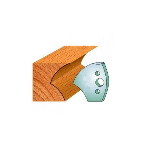 550 : Jeu de fers congé - 1/4 de rond 40 mm ( 50 x 4 mm ) porte outils toupie