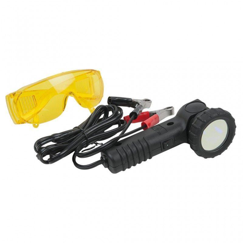 Kstools - 550.1180. Lampe UV de détection de fuites de climatisation avec lunettes