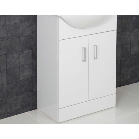 550mm Floorstanding Bathroom Vanity Unit Only- Basin Not Included