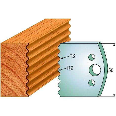 552 : Jeu de fers enture arrondie ( 50 x 4 mm ) porte outils toupie
