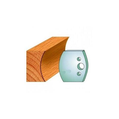 554 : Jeu de fers congé R = 45 mm ( 50 x 4 mm ) porte outils toupie