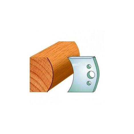 555 : Jeu de fers demi rond R = 40 mm ( 50 x 4 mm ) porte outils toupie