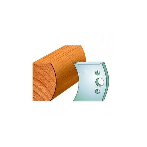 556 : Jeu de fers demi rond R = 45 mm ( 50 x 4 mm ) porte outils toupie