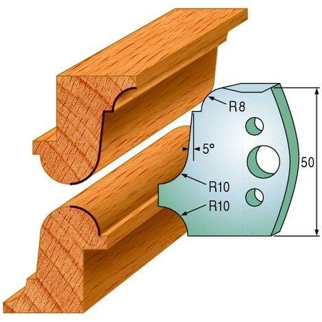 557 : Jeu de fers multi moulures ( 50 x 4 mm ) porte outils toupie