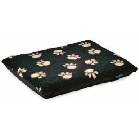 558310 - Sleepy Paws Paw Print Flat Pad Black 107x69cm