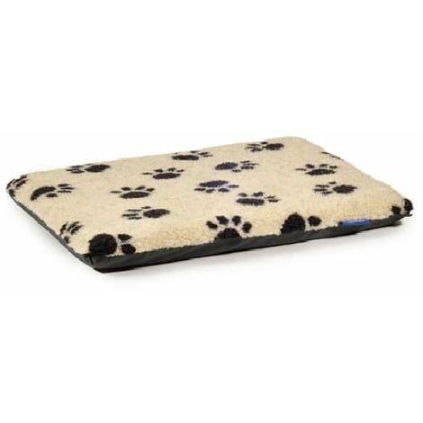 558400 - Sleepy Paws Paw Print Flat Pad Cream 122x76cm