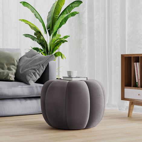 55CM Fabric Pumpkin Shape Footstool