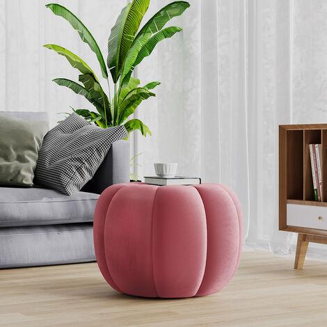 55CM Spandex Velvet Pumpkin Shape Footstool