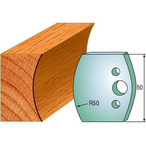 560 : Jeu de fers congé R = 50 mm ( 50 x 4 mm ) porte outils toupie
