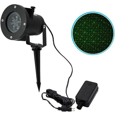 560897 Proyector luz LED láser PUNTOS ROJO Y VERDE uso externo resistente a agua