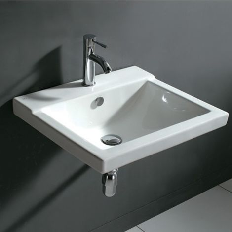 560mm 1 Tap Hole Wall Hung Basin - A10 By Voda Design
