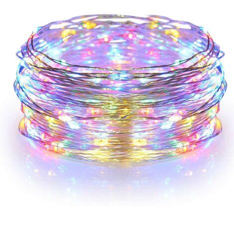 561042C Serie 50 LUCES NAVIDEÑAS de colores forma en gotas de luz a batería