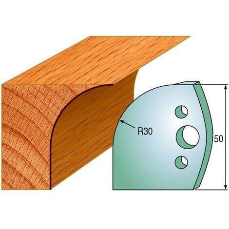 563 : Jeu de fers congé R = 30 mm ( 50 x 4 mm ) porte outils toupie
