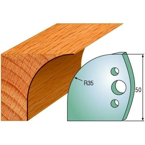 564 : Jeu de fers congé R = 35 mm ( 50 x 4 mm ) porte outils toupie