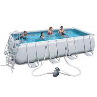 56670 - piscina bestway rettangolare 488x244x122 power steel con filtro cartuccia