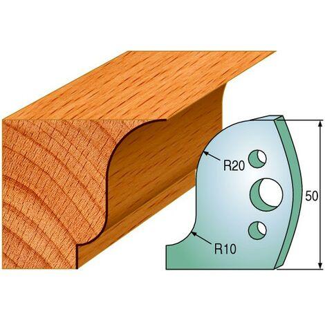 570 : Jeu de fers corniche 50 mm ( 50 x 4 mm ) porte outils toupie