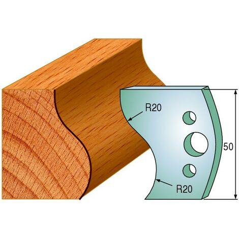 571 : Jeu de fers doucine 50 mm ( 50 x 4 mm ) porte outils toupie