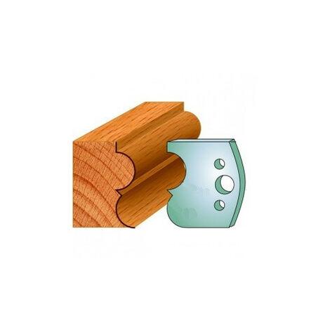 572 : Jeu de fers tore à gorge 50 mm ( 50 x 4 mm ) porte outils toupie