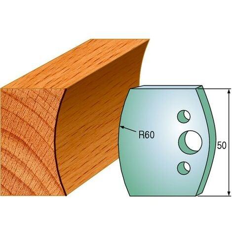 574 : Jeu de fers congé R = 60 mm ( 50 x 4 mm ) porte outils toupie