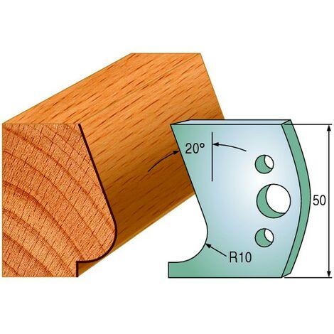 575 : Jeu de fers nez de marche escalier ( 50 x 4 mm ) porte outils toupie