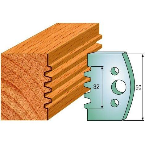 576 : Jeu de fers enture 32 mm ( 50 x 4 mm ) porte outils toupie