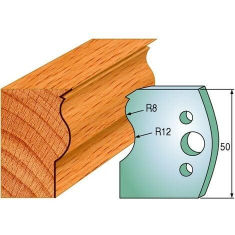 578 : Jeu de fers moulure traverse ( 50 x 4 mm ) porte outils toupie