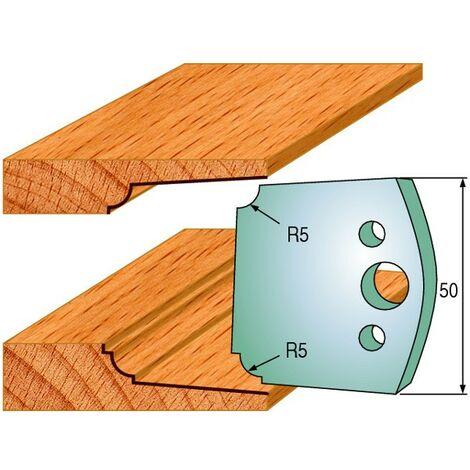 579 : Jeu de fers double plate bande ( 50 x 4 mm ) porte outils toupie