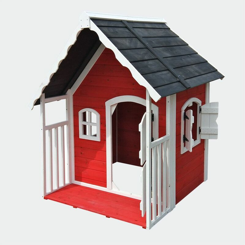 MercartoXL Playhouse pour véranda en bois pour enfants, petite villa avec porte