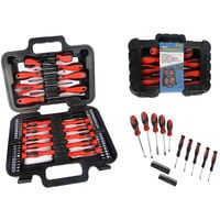 58 Piece Screwdriver Set Kit Precision Phillips Slotted With Case