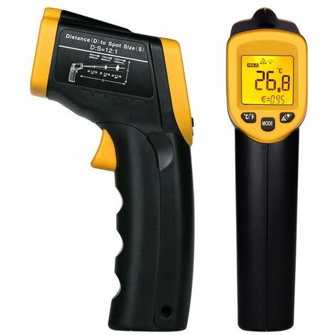 -58°F~ 932°F Thermomètre Infrarouge à Main Sans Contact, Affichage LCD, Thermomètre Numérique Cuisine, Thermomètre Industriel IR Thermomètre à Pyromètre, -50~600 ° C (PAS pour les humains),Facile à utiliser..