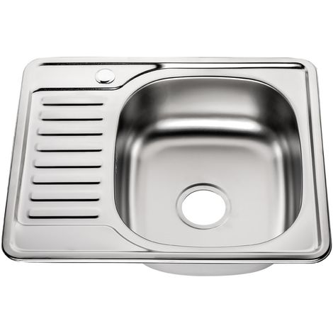 58x48CM Built-in sink square stainless steel with shelf right Kitchen Sink basin