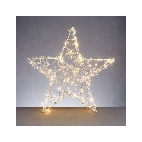 58x58cm Copper Light Star with Timer and 120 Warm White LED's