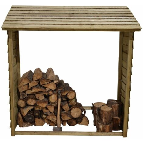 5'9 x 2' (1.75 x 0.6m) Forest Large Wall Log Store