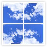 595x595 2D SKY Picture LED Panels, 40W with EMC Flicker Free Driver, 4 pcs set, 6500K