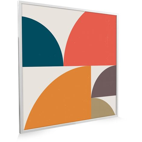 595x595 Abstract Circles NXT Gen Infrared Heating Panel 350W - Different Frame Colours Available
