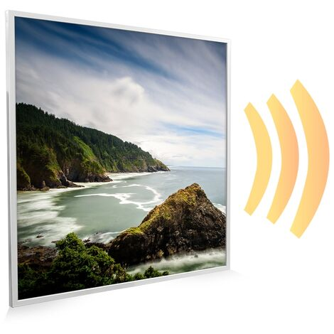 595x595 Coastal Beauty NXT Gen Infrared Heating Panel 350W - Different Frame Colours Available
