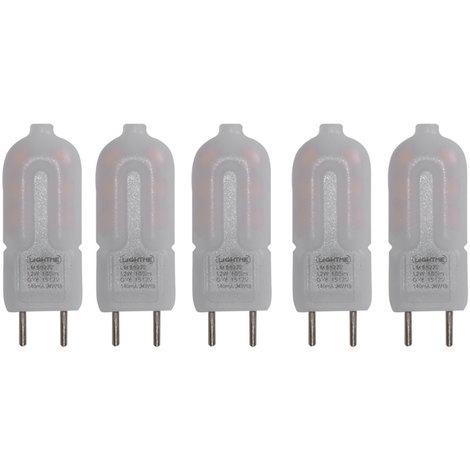 5er Set LED 2 Watt Leuchtmittel G6.35 mit 100 Lumen warmweiß