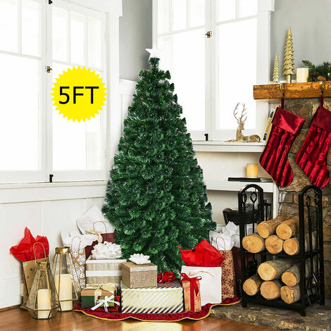"""main image of """"5ft 6ft 7ft Christmas Tree Multicolor Lights Effects Xmas Trees Decoration LED"""""""