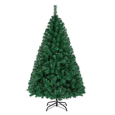 5FT Christmas Tree 718 Tips Artificial Hinged Spruce Christmas Tree Lifelike Xmas Tree with Foldable Stand