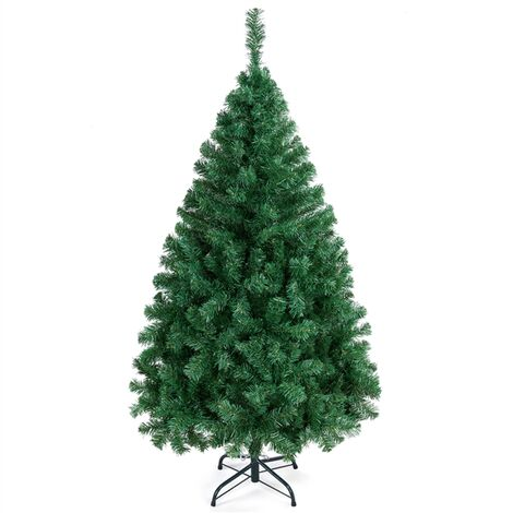5ft Christmas Tree Hinged Spruce Artificial Christmas Tree 598 PVC Tips Xmas Tree with Metal Foldable Stand