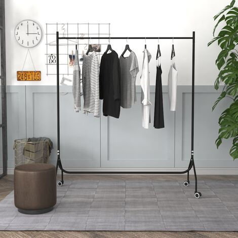 5ft Garment Clothes Rail Metal Rack Home Shop Display Stand