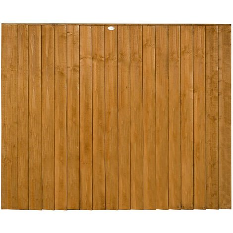 5ft High Featheredge Heavy Duty Fence Panel