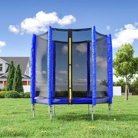 """main image of """"5ft Kids Trampoline with Enclosure Safety Net In/Outdoor Playground,Pink"""""""