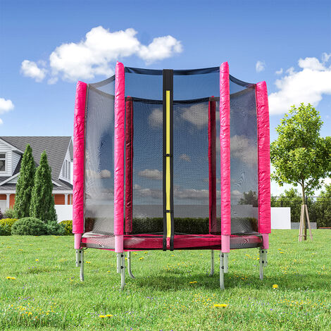 """main image of """"5ft Kids Trampoline with Enclosure Safety Net In/Outdoor Playground,Blue"""""""