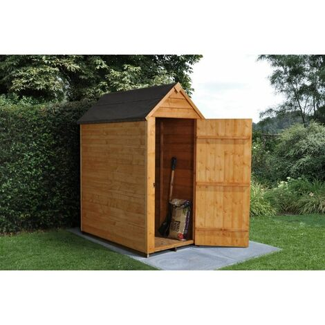 5ft x 3ft Overlap Apex Garden Shed (1.6m x 1.0m) - Modular - CORE - *Doors is on the 3ft Side