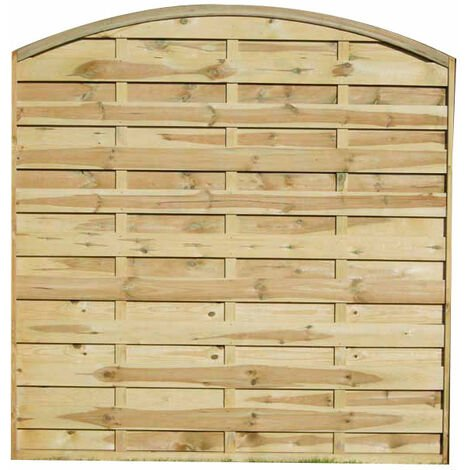 5ft11 (1.8m) High Forest Convex Dalebrook Fence Panel