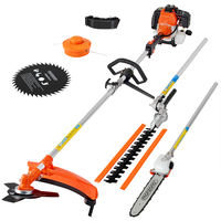 5in1 Garden Tool Deuba Brush Cutter Pruning Saw Lawn Trimmer Hedge Shears Chainsaw 2 Stroke 3 HP 52 cc Gasoline