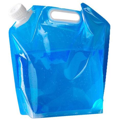 5L / 10L Contenedor de agua plegable Bolsa de jarra de almacenamiento de agua para acampar al aire libre Senderismo Supervivencia de emergencia, 10L