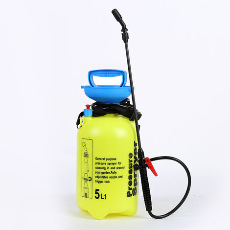 5L Manual Pressure Lawn & Garden Disinfectant Spray Bottle Outdoor Plant Flowers Watering Irrigation Sprayer Gardening Tool 18 x 45cm