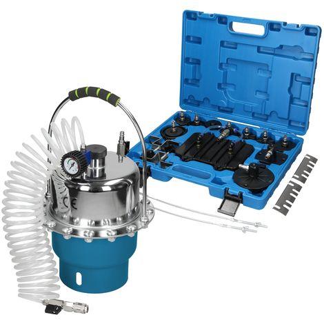 5L Purgeur de frein à air comprimé embrayage freinage avec adaptateurs universel